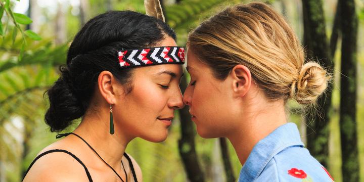 Maori welcome, hongi